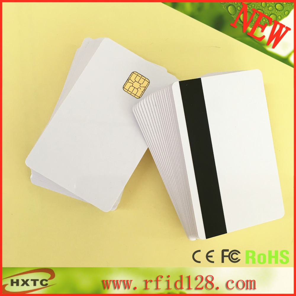 Free Shipping 100PCS/Lot Contact Sle4428 Chip Smart IC Blank PVC Card with Hi-Co Magnetic Stripe For MSR609 Mag Reader Writer<br><br>Aliexpress
