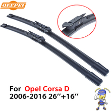 QEEPEI car Wipers For Opel Corsa D 2006-2016 26''+16'' Accessories fit Auto Rubber Windshield Wiper Blade Specific-Fit CPB108-2