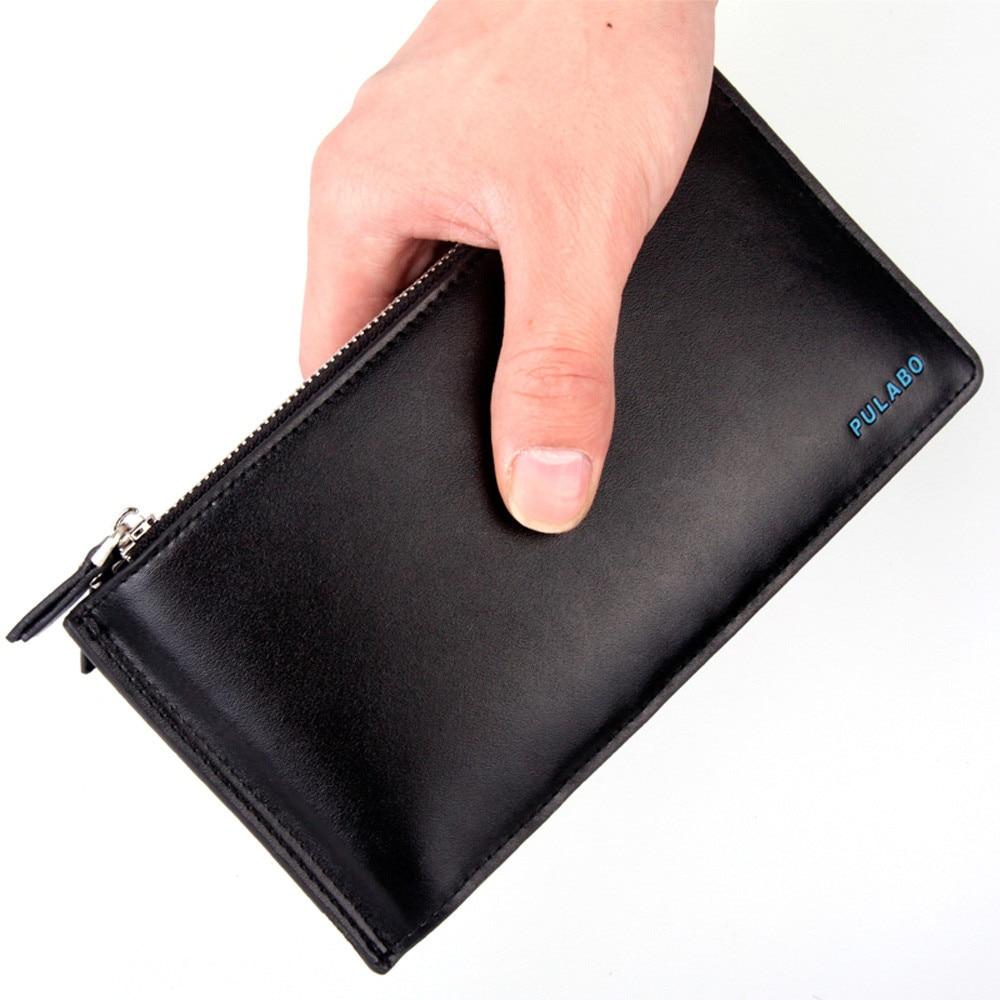 2016 Hot Sale,Wallet Men PU Leather Purse High Quality PU Leather Card Cash Receipt Holder Ultra-Thin Zipper Bolso Masculino<br><br>Aliexpress