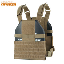 EXCELLENT ELITE SPANKER Outdoor Hunting Vest Tactical Molle Ultra Light Hollow Plate Carrier CS Nylon Military Equipment(China)