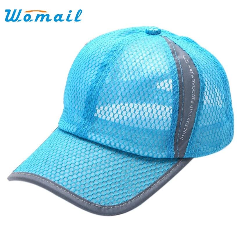 2017 Unisex Baseball Hat Man Summer Breathable Fashion Baseball Cap Hat Mesh Cap  Bone Women Golf Hats For Men Sport Cap<br>