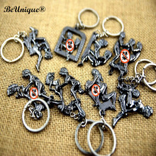 Erotic Posture Metal Key chain Idea Sex Product Key Ring Furniture Decoration Pendant Adult fun gift Wholesale 30pcs/lot(China)