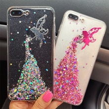 Buy AIBOR 3D Cartoon Luxury Bling Glitter Sequins Mermaid Deer Angel Flash Powder Mobile Phone Case iphone 7 8 6 6s plus Cover for $2.68 in AliExpress store