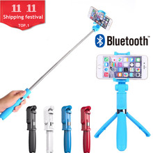 FGHGF Bluetooth Wireless Selfie Stick Universal Portable Extendable Mobile Phone Monopod For Android For iPhone se(China)