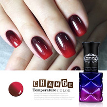 Color UV Thermo Gel Nail Polish Perfect Summer Chameleon Nail Gel Polish UV LED Soak off Gel lacquer Color Changing Gel(China)
