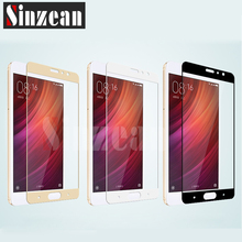 Sinzean For Xiaomi Redmi 3/4/4A/Pro/4X/Note3/Note4/Note 4X/5/5s/5s plus/6/Max2 Flat Full cover tempered glass in opp bag(Not 3D)