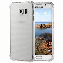 Air Cushion For Protection Case Samsung S6 Edge Cover Crystal Clear Scratch Resistant Bumper Capa For Galaxy S6 edge s6edge case