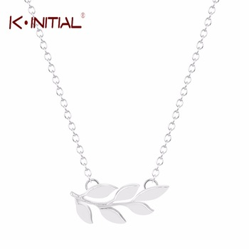 10Pcs Gold Silver Plated Wholesale Leaves Necklace Pretty Organic Laurel Leaf Pendants Necklaces Jewelry Gift for Mother Bijoux