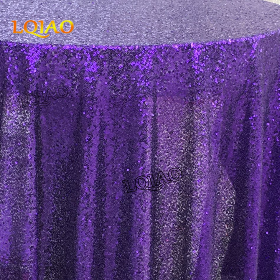 purple sequin tablecloth-007