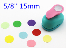 free shipping paper circle cutter 15mm 5/8'' shapes craft punch diy puncher paper cutter scrapbooking punches scrapbook S29877(China)
