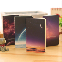 Vintage Romatic Starry Sky Series Kraft Paper Notebook Journal Diary Notepad Vintage Soft Copybook Daily Memos Pads 1 Pcs