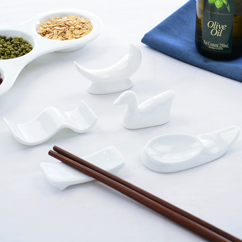 4pcs/set, Bone china fork holder, ceramic chopsticks coaster, spoon placemat, placemats for table, desk accessories, drying mats(China (Mainland))