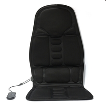 Neck Back Massage Heat Cushion Home Car Magnetic Field Lumbar Heat Vibrate Cushion Neck Massage Chair Massage Relaxation US Plug