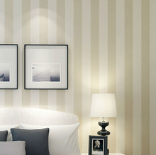 56 Sqf 10M Roll Modern Simple Style Beige/White Beige White Strips Striped Wallpaper Livingroom/Bedroom Wallpaper Wall Covering