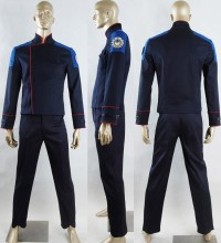 Battlestar Galactica Uniform  Outfit Sci-Fi Fancy Make-up Halloween Carnival Cosplay Costume Men Adults
