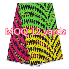 6Yards Veritable African fabrics patchwork Print Craft Handmade Wax table cloth sewing by the yard With Hand bag
