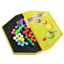 Logic Puzzle Kids Brain Teaser Magic IQ Cube Intelligence Puzzle Ball Beads for Children Educational Game Toys 180 Challenges