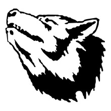 15.2*14.2CM Classic Car Decorative Decals Wolf Head Graffiti Vinyl Car Styling Decal Black/Silver S1-2297