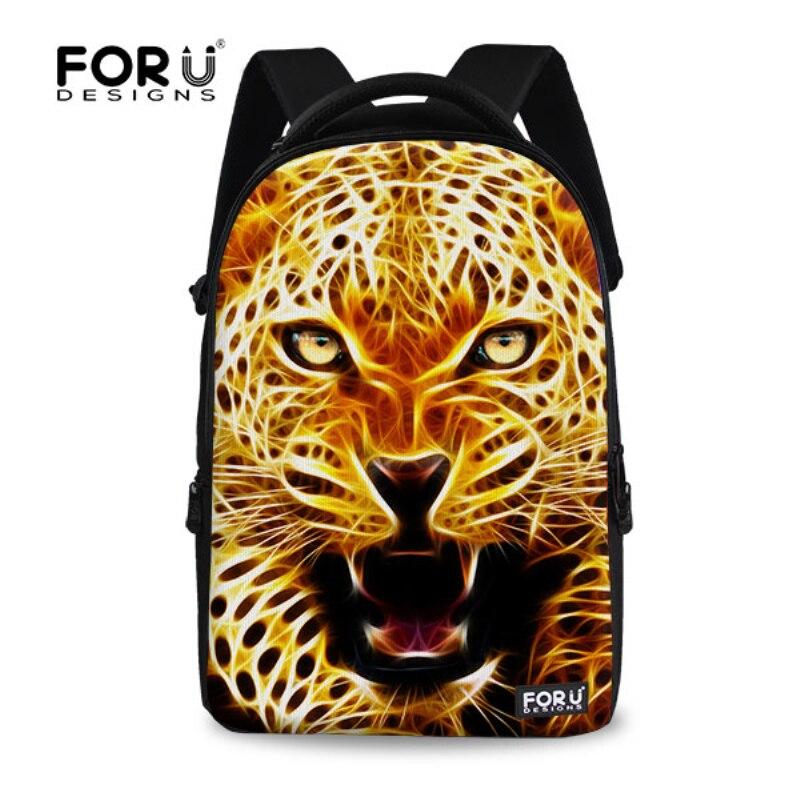 3D Animal Lion Printing Mens Travel Backpack,Cool Leopard Owl Children Schoolbag Boys School Backpacks Casual Laptop Backpack<br><br>Aliexpress
