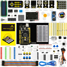Buy Keyestudio Updated Maker Starter Kit Arduinos Starter kit+MEGA 2560 R3 + User Manual+1602LCD+Chassis+PDF+35Project+Video for $49.99 in AliExpress store