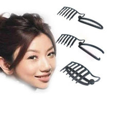 1pc DIY  Black Updo Bun Comb And Clip Tool Set For Hair French Twist Maker Holder Women Formal Hair Styling