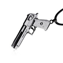 Hot game CF Sniper Model Metal Necklaces Cool CF Alloy Silver Punk Weapon Gun Necklace Men Jewelry Pendants Dropshipping