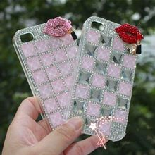 New Luxury 3D Bling Crystal Rhinestone Mobile phone shell For iphone4/4S/5/5S/SE/6/6s/iphone 6 plus/iphone 6s plus/iphone 7/Plus(China)