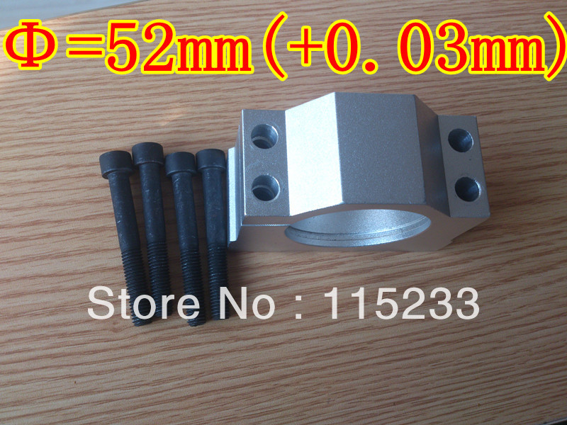 FREE Shipping 1pcs 52mm spindle motor 300W mounting bracket and 4pcs mounting holes screws for CNC<br>
