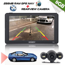 Xgody 712 Car Navigator Gps Truck Navigation Europe 7 Inch Car Gps Navigator Bluetooth Rear View Camera Russia Navitel Maps(China)