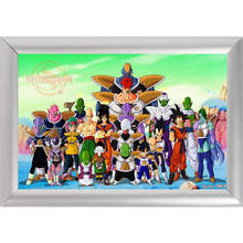 Silver Color Aluminum Alloy Picture Frame Home Decor Custom Canvas Frame P0420 Dragon Ball Z Canvas Poster Frame F170112#59(China)
