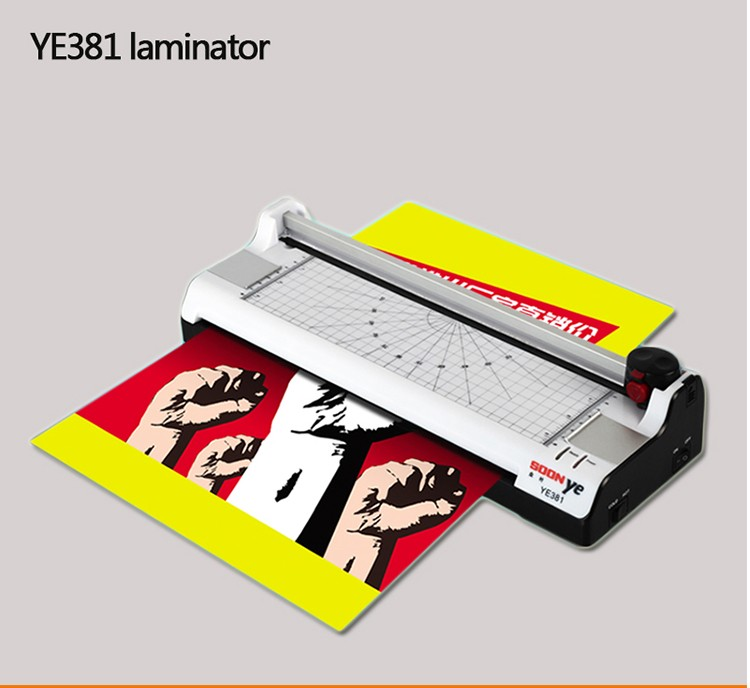 1 PCS 220V-240V 50Hz New YE381 Smart Photo Laminator Hot Cold A3 330mm Sealed Plastic Laminating Machine<br>