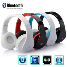 Andoer Foldable Wireless Bluetooth Stereo Bluetooth Headset Handsfree Sport Headphones w/ Mic for iPhone iPad PC