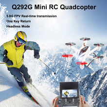WLtoys Q292G 5.8G FPV 2.4G 4CH 6Axis MINI RC Quadcopter Drone with 720P HD Camera Headless Mode One Key Return