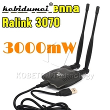 USB 2.0 Wireless BT-N9100 Beini free internet High Power 3000mW Dual OMNI Antenna Wifi Decoder Ralink 3070(China)