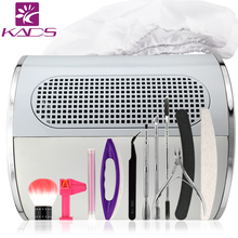 KADS NEW 110V&220V Nail dryer machine Nail Dust Suction Collector SET Manicure Filing Acrylic UV Gel Tip Machine Nail Equipment