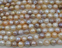GORGEOUS 1 Strand 11-14mm Natural Furrow Kasumi Multicolor pearl(China)