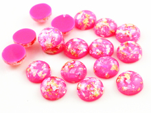 New Fashion 40pcs 12mm Rose Red Colors Built-in metal foil Flat back Resin Cabochons Cameo-Z5-31(China)