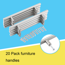 20Pcs/Lot Furniture Bar Kitchen Cabinet Home Handle Drawer Pull Knob Stainless Steel