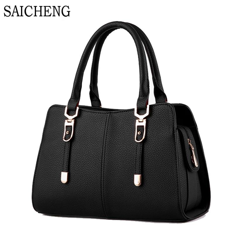 SAICHENG Brand Luxury Handbags Women Bags Large Designer 2016 Shoulder Bag Ladies Fashion pu Leather Sac A Main Femme De Marque<br><br>Aliexpress