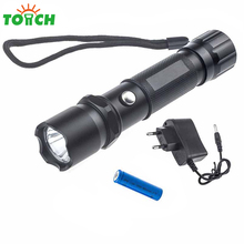 1000lm 3 Switch Mode Tactical Flashlight led Portable Hard Light Torch Rechargeable 18650 Li ion Lamp Hand for Fishing Hunting(China)