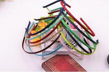 Mixed Color Satin Covered Metal Headband 5mm Wide Wholesale(China)