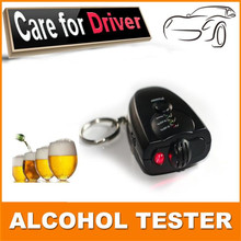 Car Key Chain Alcohol Tester Digital Breathalyzer Alcohol Breath Analyze Tester car-styling high quality vehicle(China)