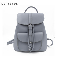 LEFTSIDE Women's Drawstring PU Leather Backpack School bags Teenage Beautiful for Women Backpacks High quality ladies Bagpack