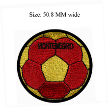 50.8MM wide MONTENEGRO flag patch of soccer ball football shipping to sew on/art work/for cloth(China)