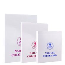 Nail Color Card gel nail color chart 120/216/308 colors three size Display Box gel model For Nails Polish UV Gel(China)