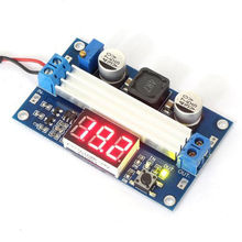 DC/DC 3~35V to 3.5~35V 5/12V Power Converter High-power Regulator Adjustable Boost Module + Red LED Digital Voltmeter