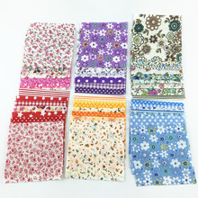 Booksew Cotton Fabric 30 pcs/lot 10cmx10cm Color Random Charm Packs Patchwork Fabrics Quilting Tissue No Repeat Design Tissue(China)