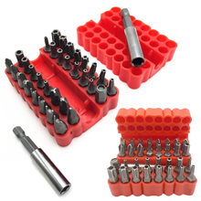 33pcs Security Tamper Proof Torx Hex Screw Driver Bits Set Magnetic Screwdriver Bits with Magnetic Holder for Hand Tools
