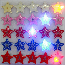 25 Pcs 4color mixed Pentagram Led Badge Flashing Brooch kid gifts Party Supplies Light Children Party Decoration kid gifts(China)