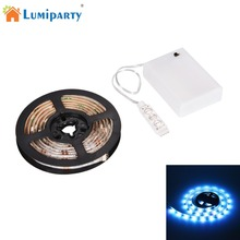 LumiParty 1.5m 4.5V Waterproof Music LED Strip Light 4.9ft 45lLEDs RGB SMD 5050 Color Changing Ligting Lamps Fashion New 2017(China)
